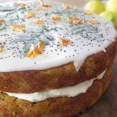 Try this Double Decker Zucchini Cake With Candied Garden Leaves  recipe by Chef Paul West . This recipe is from the show River Cottage Australia.