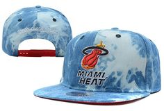 a6d2965468b NBA Miami Heat Snapbacks Hats Mitchell And Ness Blue 460 9302! Only  7.90USD