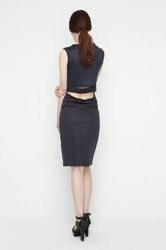 cutout dress Charcoal