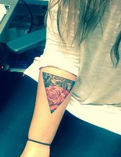Triangle rose tattoo                                                                                                                                                     More