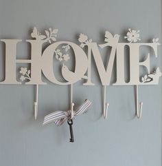 Isn't this pretty? The home design metal hooks provide four useful hanging hooks, where you could hang your keys or other bits and pieces. It's also a very decorative home… Shades Of Grey Paint, Butterfly Mobile, Metal Homes, Wall Hooks, Key Hooks, Interior Accessories, Cozy House, Home Accents, Accent Decor