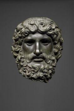 Ancient Rome. Head of Jupiter, Roman bronze; c. 50AD