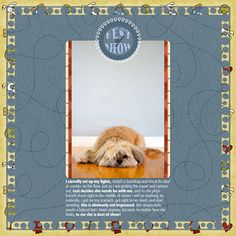 """Best of Show"" Digital Scrapbooking Layout by Janine Buckles"