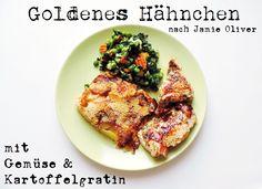 [FOOD] Goldenes Hähnchen mit Gemüse und Kartoffelgratin