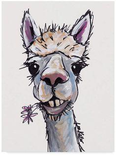 Diesel Trademark Global Hippie Hound Studios Alpaca Canvas Art - 20  x 25
