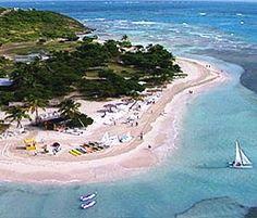 Aerial image of Palomino Island.