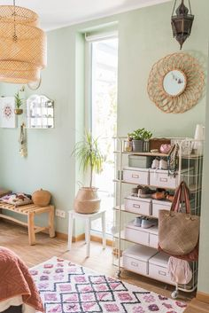 Awesome Vintage Deko Ideen Schlafzimmer that you must know, Youre in good company if you?re looking for Vintage Deko Ideen Schlafzimmer Sage Bedroom, Green Bedroom Walls, Sage Green Walls, Light Green Walls, Bedroom Wall Colors, Room Ideas Bedroom, Room Decor, Vintage Room, Boho Vintage