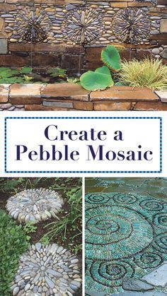 Make edging, stepping stones, or even a small patio with river rocks and mortar. Backyard Fences, Backyard Projects, Garden Projects, Backyard Ideas, Diy Projects, Mosaic Projects, Fence Ideas, Garage Ideas, Patio Ideas