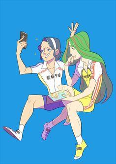 Toudou and Makishima from Yowamushi Pedal