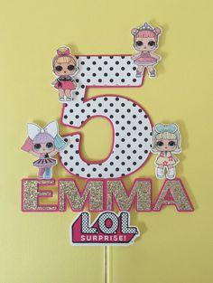 LOL Surprise Cake Topper, Personalised Cake Topper, L. Surprise, Birthday Cake Topper, LOL Surprise Party Decor – Carli Nelson - Value activa Surprise Party Decorations, Birthday Decorations, Funny Birthday Cakes, Birthday Cake Toppers, Surprise Cake, Surprise Birthday, Fete Emma, Lol Doll Cake, Josi