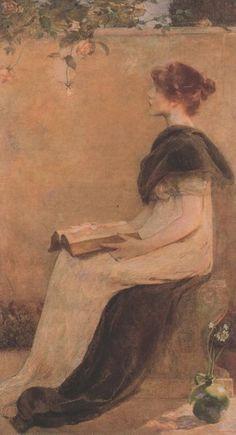 Women Reading - 23silence: Edith Prellwitz (1864 - 1944) - Rose
