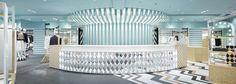 Mix of patterns: Stylish retail spaces by Nendo Nendo Design, Internal Design, Retail Space, Retail Design, Portal, Shops, Restaurant, Windows, Spaces