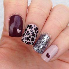 Cute Cheetah Nail Design