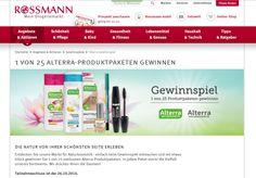 Gewinnt 25 Alterra-Produktpakete! Bei Rossmann könnt ihr noch 26. Oktober2014 25 Alterra-Produktpakete gewinnen. Hier geht es zum Teilnahmeformular...