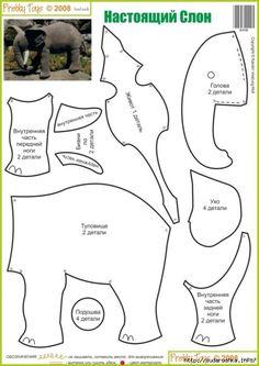 Moldes gratis para hacer almohadas en forma de elefante Ideas de Manualidades