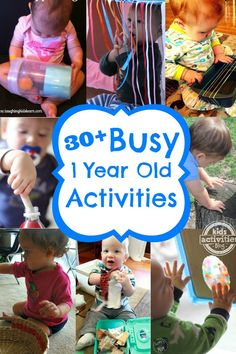 1 year old activities for busy babies #kids #ideas