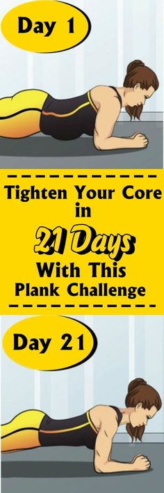Tighten Your Core in 21 Days With This Plank Challenge #fitness #abs #womenhealth