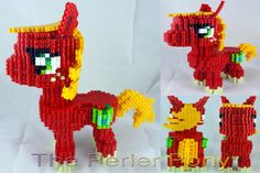 My Little Pony 3D Perler Normal Pony Commission by ThePerlerPony