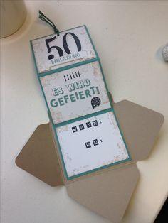 Stampin Up Einladung 50. Geburtstag