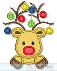 Reindeer Ornaments Applique - 3 Sizes! | Featured Products | Machine Embroidery Designs | SWAKembroidery.com