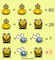 Great Maths Puzzles With Answers Use your brain to solve these great puzzles. Some of them might be easy while others might be tough. Test your thinking and show that you can answer our cool maths puzzles. Math For Kids, Fun Math, Math Games, Math Activities, Math Logic Puzzles, Brain Teaser Puzzles, Reto Mental, Brain Teasers For Kids, Math Challenge