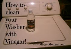 Also will get funky smell out of towels ;) How to clean your washer with vinegar