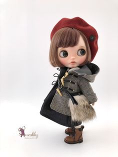 BlytheのOutfitを製作しています。手仕事の数々や、日々のあれこれの記録です。 New Dolls, Ooak Dolls, Blythe Dolls, Cartoon Pics, Cute Cartoon, Anime Dolls, Custom Dolls, Anime Art Girl, Doll Face
