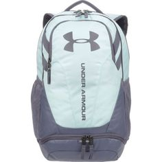 Under Armour Hustle II Backpack Blue/Light Blue - Backpacks at Academy Sports Nike School Backpacks, Cute Backpacks For School, Big Backpacks, Leather Backpacks, Leather Bags, Backpacking Tent, Hiking Gear, Camping Tips, Tent Camping