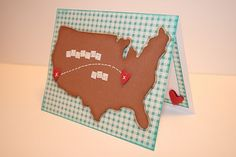 Map card made with #Cricut. Loving all the ways people are using maps!