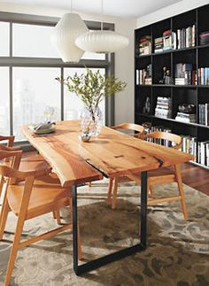 Chilton 84w Table in Cherry - Chilton Table with Jansen Chairs in Cherry - Dining - Room & Board