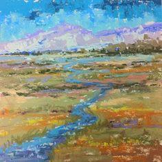 "Original Mountain Landscape Painting ""Up Ohio Creek""by Western Colorado Artist Barbara Churchley"
