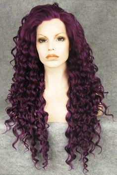 1000 Ideas About Curly Purple Hair On Pinterest Purple