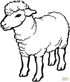 free printable sheep coloring pages for kids lambs shaun and