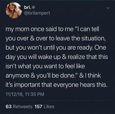 My mom has told me this before and it really hit me. Real Talk Quotes, Fact Quotes, Mood Quotes, Life Quotes, Tweet Quotes, Twitter Quotes, Meaningful Quotes, Inspirational Quotes, Wise Words
