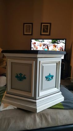 Rustic Turquoise Hexagon End Table | Turquoise, Refinished Furniture And  Paint Furniture