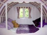 the bedroom in the stellar playhouse...
