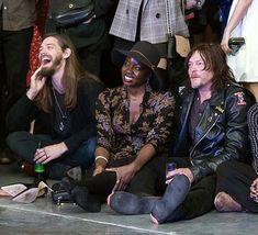 Tom Payne, Danai Gurira and Norman Reedus ♥ at The walking dead wrap party season 8