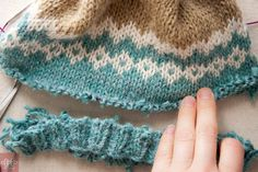 How to undo knitting below the needle.