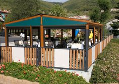 Gibus Group, leader in the production of awnings and pergolas for sun protection and energy saving Gazebo, Pergola, Save Energy, Outdoor Structures, Restaurant, Country, Outdoor Decor, Home Decor, Italia