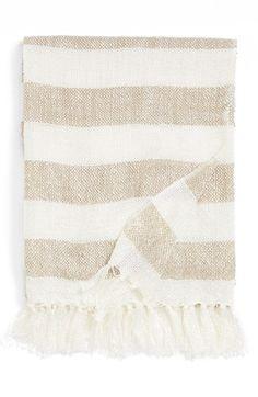 striped throw $25