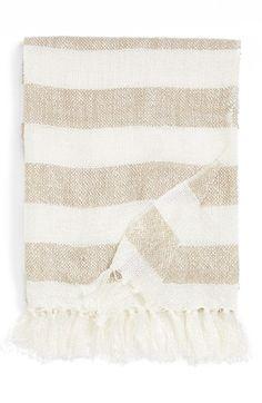 candy stripe woven throw blanket
