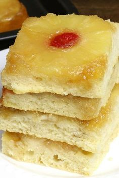 These Pineapple Upside Down Pancakes are baked in the oven using a sheet pan for a yummy recipe to feed a crowd!