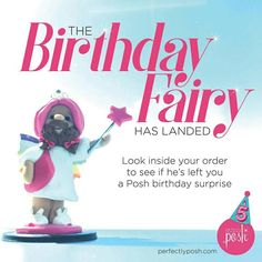 Woohoo!! 🎉🎉 When you order make sure you post it on social media with the hashtags #5xMyOrder and #poshturns5. #poshwithjackie www.poshwithjackie.com. The Birthday Fairy is back to celebrate our 5th birthday! Throughout the rest of September, he'll be choosing random orders to multiply by 5. That means you'll receive 5x the amount of every product in your order! If you are one of the lucky recipients, post your order on social with #5xMyOrder and #PoshTurns5.