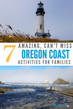 Heading to the Oregon Coast with kids for your family vacation? Check out these great activities to do on your trip. From lighthouses, to aquariums and more. This stretch of the West Coast is full of family fun and beaches. Oregon Coast Roadtrip, Oregon Vacation, West Coast Road Trip, Oregon Travel, Travel Usa, Travel Tips, Seattle Travel, Best Family Vacations, Family Vacation Destinations