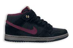 Nike SB Dunk Holiday 2013 - Nike Dunk Mid Pro SB - black / light graphite / cherrywood red