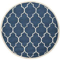Safavieh CAM134G Cambridge Collection Handmade Wool Round Area Rug, 6-Feet, Navy and Ivory Safavieh http://www.amazon.com/dp/B00CM7L9NQ/ref=cm_sw_r_pi_dp_KwvQub0BCPPNE