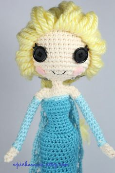 Completed for Christmas PATTERN: Elsa Crochet Amigurumi Doll by epickawaii on Etsy Crochet Doll Pattern, Crochet Patterns Amigurumi, Amigurumi Doll, Crochet Dolls, Crochet Disney, Frozen Crochet, Frozen Pattern, Frozen Dolls, Doll Patterns Free