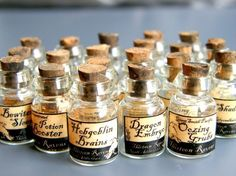 Dollhouse 1/12 Scale Miniature Witch Potion Labels - SET No.1