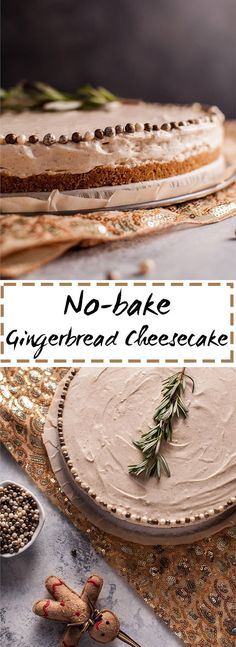 My easy no bake gingerbread cheesecake is a festive Christmas holiday treat without the effort!