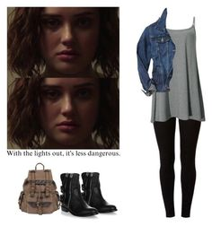 """Hannah Baker - 13 reasons why / 13 rw"" by shadyannon ❤ liked on Polyvore featuring Dorothy Perkins, Gap, Giuseppe Zanotti and Wilsons Leather"